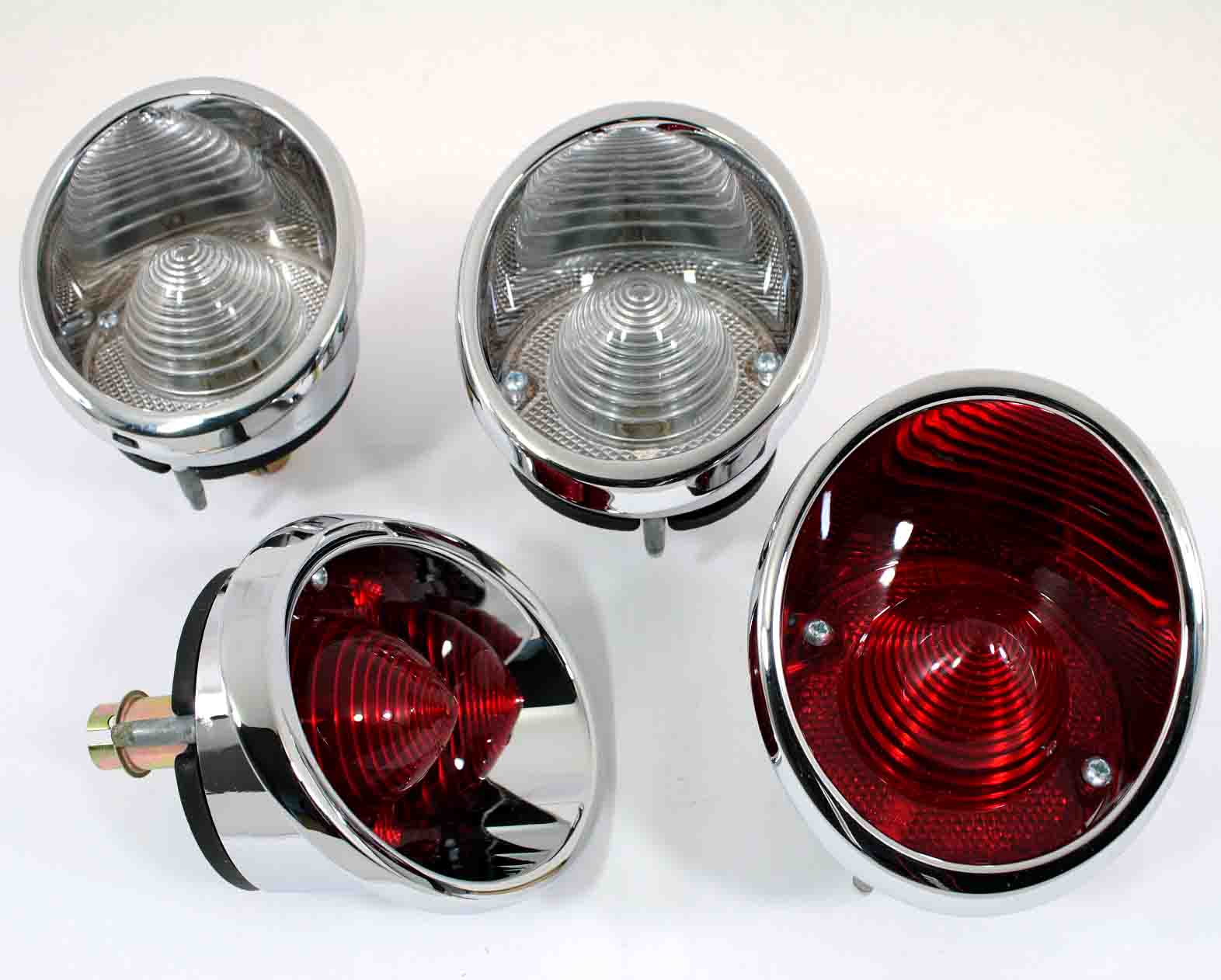 64 65 66 Corvette Rear Tail Light Assembly Set (4) New
